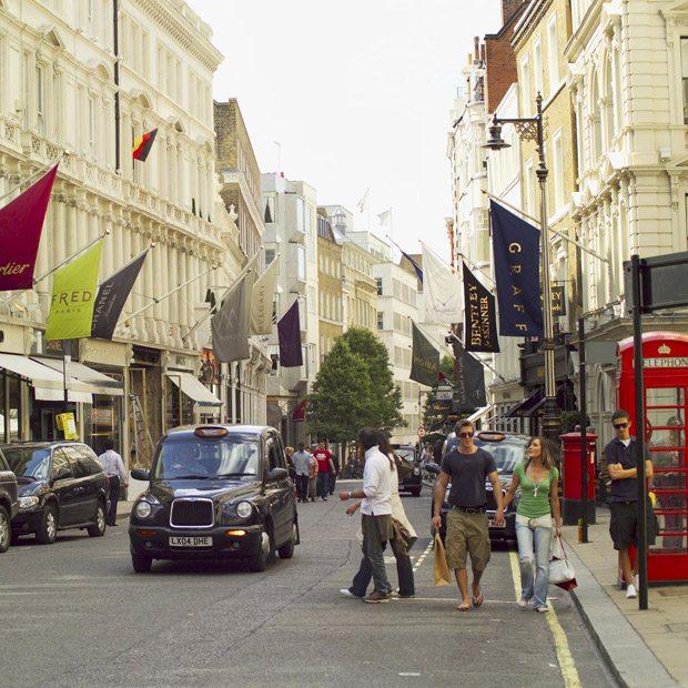 Shop straat Londen